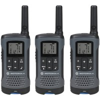 Motorola Talkabout T200 FRS/GMRS Two-Way Radios (3-Pack, Gray)